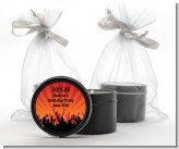 Rock Band | Like A Rock Star Girl - Birthday Party Black Candle Tin Favors