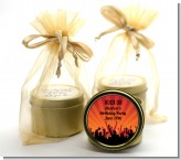 Rock Band | Like A Rock Star Girl - Birthday Party Gold Tin Candle Favors