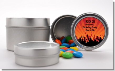 Rock Band | Like A Rock Star Girl - Custom Birthday Party Favor Tins