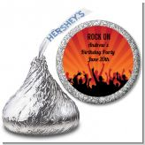 Rock Band | Like A Rock Star Girl - Hershey Kiss Birthday Party Sticker Labels