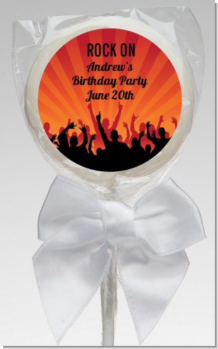 Rock Band | Like A Rock Star Girl - Personalized Birthday Party Lollipop Favors