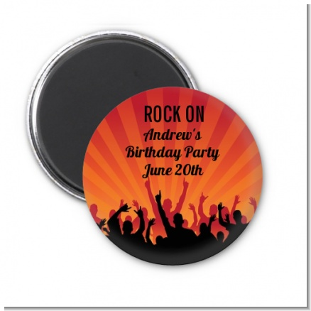 Rock Band | Like A Rock Star Girl - Personalized Birthday Party Magnet Favors