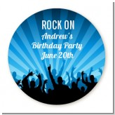 Rock Band | Like A Rock Star Boy - Round Personalized Birthday Party Sticker Labels