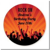 Rock Band | Like A Rock Star Girl - Round Personalized Birthday Party Sticker Labels
