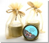 Rock Climbing - Birthday Party Gold Tin Candle Favors