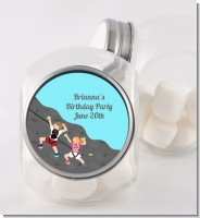 Rock Climbing - Personalized Birthday Party Candy Jar