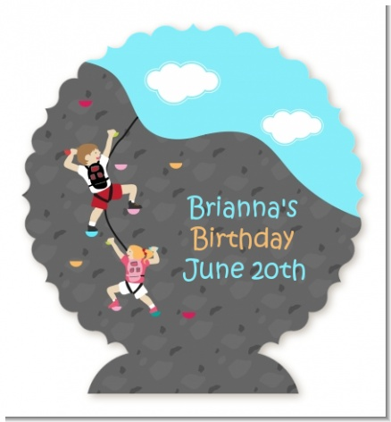 Rock Climbing - Personalized Birthday Party Centerpiece Stand