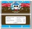 Rock Star Baby Boy Skull - Personalized Baby Shower Candy Bar Wrappers thumbnail