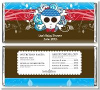 Rock Star Baby Boy Skull - Personalized Baby Shower Candy Bar Wrappers