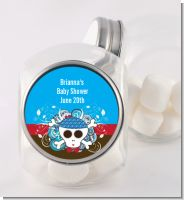 Rock Star Baby Boy Skull - Personalized Baby Shower Candy Jar