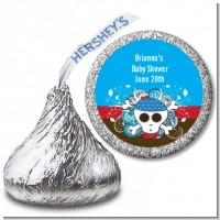 Rock Star Baby Boy Skull - Hershey Kiss Baby Shower Sticker Labels