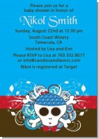 Rock Star Baby Boy Skull - Baby Shower Invitations