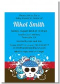 Rock Star Baby Boy Skull - Baby Shower Petite Invitations