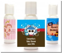 Rock Star Baby Boy Skull - Personalized Baby Shower Lotion Favors
