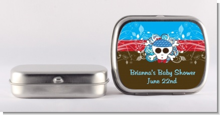 Rock Star Baby Boy Skull - Personalized Baby Shower Mint Tins