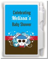 Rock Star Baby Boy Skull - Baby Shower Personalized Notebook Favor