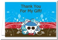 Rock Star Baby Boy Skull - Baby Shower Thank You Cards