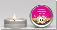 Rock Star Baby Girl Skull - Baby Shower Candle Favors