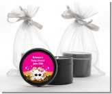 Rock Star Baby Girl Skull - Baby Shower Black Candle Tin Favors