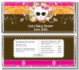Rock Star Baby Girl Skull - Personalized Baby Shower Candy Bar Wrappers thumbnail