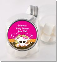 Rock Star Baby Girl Skull - Personalized Baby Shower Candy Jar