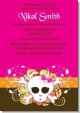 Rock Star Baby Girl Skull - Baby Shower Invitations