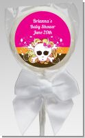 Rock Star Baby Girl Skull - Personalized Baby Shower Lollipop Favors