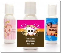 Rock Star Baby Girl Skull - Personalized Baby Shower Lotion Favors