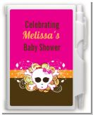 Rock Star Baby Girl Skull - Baby Shower Personalized Notebook Favor