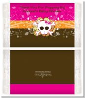 Rock Star Baby Girl Skull - Personalized Popcorn Wrapper Baby Shower Favors