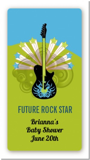 Future Rock Star Boy - Custom Rectangle Baby Shower Sticker/Labels