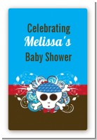 Rock Star Baby Boy Skull - Custom Large Rectangle Baby Shower Sticker/Labels