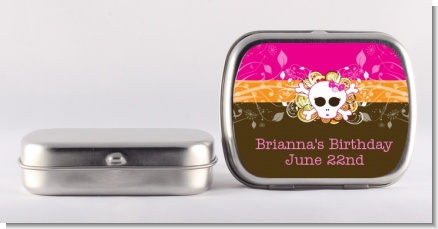 Rock Star Girl Skull - Personalized Birthday Party Mint Tins