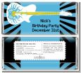 Rock Star Guitar Blue - Personalized Birthday Party Candy Bar Wrappers thumbnail