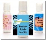 Rock Star Guitar Blue - Personalized Birthday Party Lotion Favors