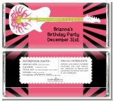 Rock Star Guitar Pink - Personalized Birthday Party Candy Bar Wrappers