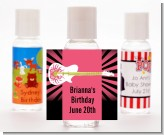 Rock Star Guitar Pink - Personalized Birthday Party Hand Sanitizers Favors