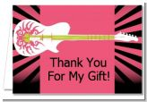 Rock Star Guitar Pink - Birthday Party Thank You Cards