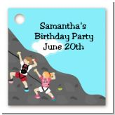 Rock Climbing - Personalized Birthday Party Card Stock Favor Tags