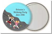 Rock Climbing - Personalized Birthday Party Pocket Mirror Favors