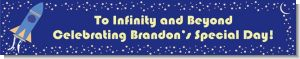Space Shuttle - Personalized Birthday Party Banners