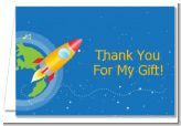 Rocket Ship - Birthday Party Thank You Cards