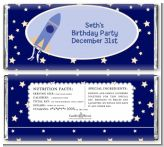 Space Shuttle - Personalized Birthday Party Candy Bar Wrappers