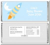 Rocket Ship - Personalized Baby Shower Candy Bar Wrappers