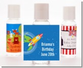 Rocket Ship - Personalized Birthday Party Hand Sanitizers Favors