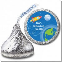 Rocket Ship - Hershey Kiss Baby Shower Sticker Labels