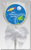 Rocket Ship - Personalized Baby Shower Lollipop Favors