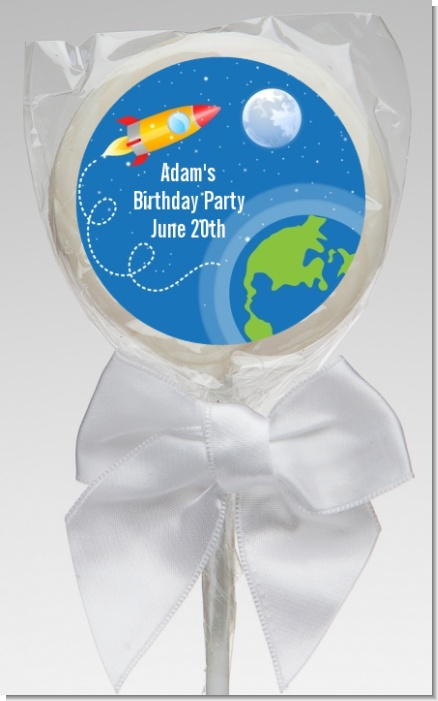 Rocket Ship - Personalized Birthday Party Lollipop Favors