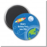 Rocket Ship - Personalized Birthday Party Magnet Favors