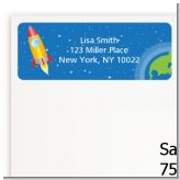 Rocket Ship - Birthday Party Return Address Labels